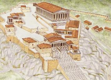 アクロポリス復元想像図
